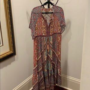 Kachel size M petite boho maxi dress